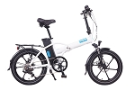 Magnum Premium High Step FOLDING Electric Bike (White/Blue)
