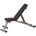 Body Solid GFID225 Flat Incline Decline Folding Bench - Light Commercial