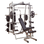 Body Solid GS348QP4 Commercial Smith Machine Gym System