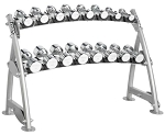 Hoist Fitness CF-3462-2 Commercial 2-Tier Beauty Bell Rack