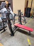 Used Matrix Commercial Free Weight Olympic Bench w/ Pivoting Uprights