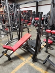 Used Matrix Commercial Free Weight Olympic Incline Bench w/ Pivoting Uprights