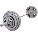 Body Solid Steel 300lb Olympic Grip Plate Set W/Bar