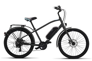 IZip E3 Simi Step-Over Electric Bike (Charcoal)