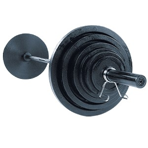Body Solid Steel 300lb Olympic  Plate Set W/Bar